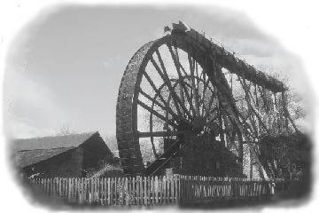 Morwellham waterwheel - enter the website...